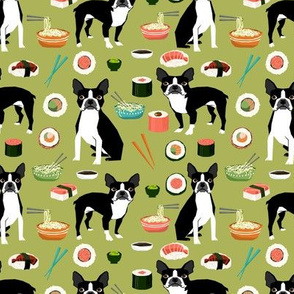 boston terrier sushi fabric cute japanese food design kawaii crafts and sewing