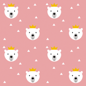 Polar Bear King pink