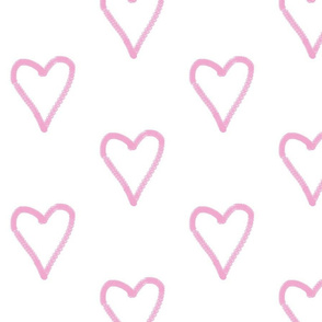 pink heart simple