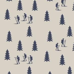 walk in the woods on beige || adventure camp