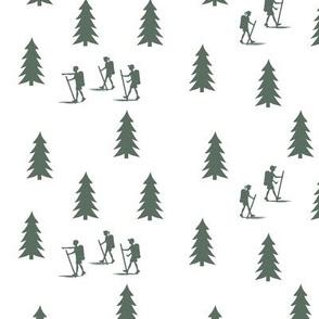 walk in the woods in terrain green || adventure camp