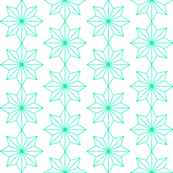 Star Tiles in Turquoise