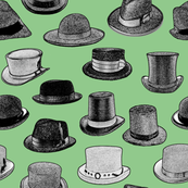 Old-Fashioned Hats - Green