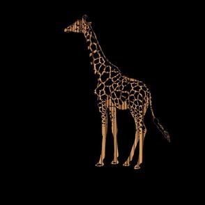 Zebrawood Giraffe for Pillow