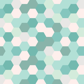 mermaid hexagons // aqua