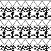 B & W Aztec Pattern