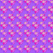 Arrow Hearts on Purple