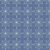 Star Tiles Grey on Blue