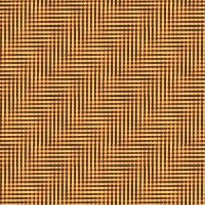 glitchy sunrise gold plaid