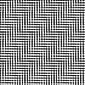 glitchy black and white plaid