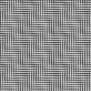 glitchy black and white plaid