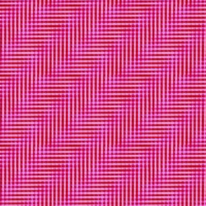 glitchy mad red and pink plaid