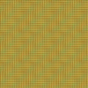 glitchy green and copper plaid