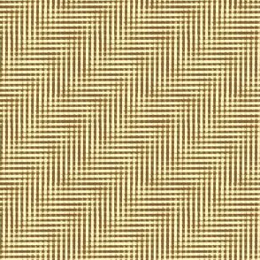 glitchy brown and cream plaid