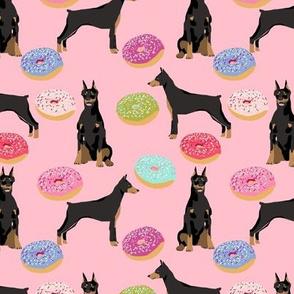 doberman dog fabric doberman pinscher blossom pink pizza fabric