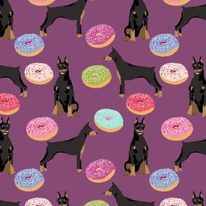 doberman dog fabric doberman pinscher amethyst purple pizza fabric