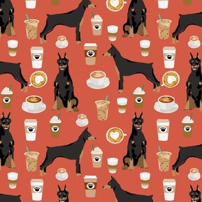 doberman dog fabric doberman pinscher rust coffee fabric