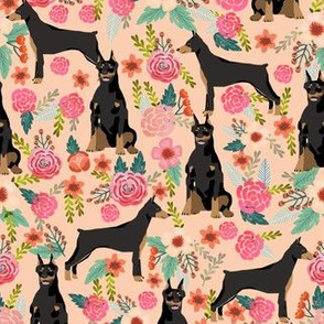 doberman dog fabric doberman pinscher apricot fabric