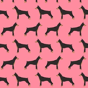 doberman dog fabric doberman pinscher flamingo pink fabric