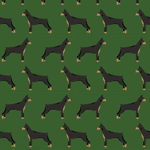 doberman dog fabric doberman pinscher garden green fabric