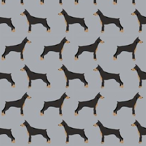 doberman dog fabric doberman pinscher grey fabric