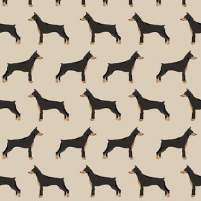 doberman dog fabric doberman pinscher sand fabric