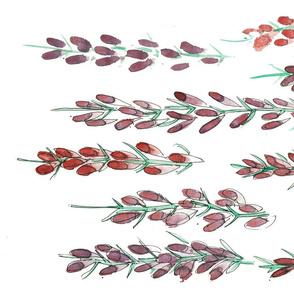 Claret & Mauve Flower Spikes