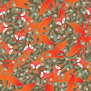 Foxes in Mistletoe
