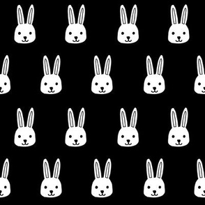 white rabbits // black white rabbit black and white rabbit bunnies fabric andrea lauren design