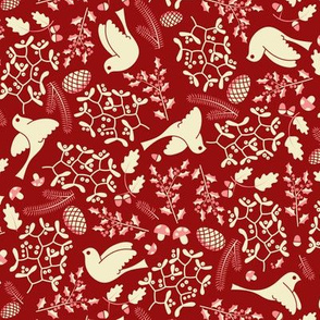 Christmas forest (red)