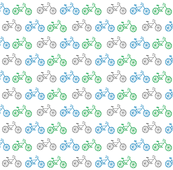 Bicycles 7 - gray blue green