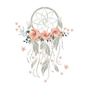 """Sweet Dreams Baby Girl Dream Catcher- Taupe 7"""""""