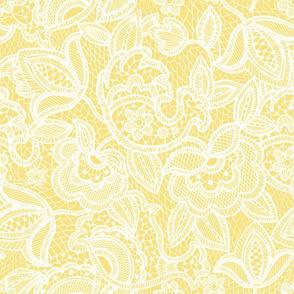 soft yellow lace