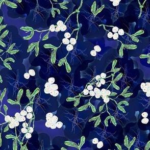 DITSY MISTLETOE MIDNIGHT BLUE ORIGINAL