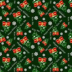 Mistletoe-kiss-me-green-ditsy