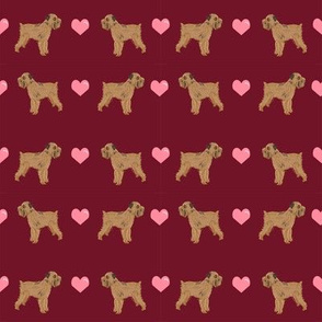 brussels griffon love fabric cute valentines hearts dog fabric best dogs fabric