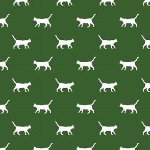garden green cat silhouette fabric best cats design kitten fabric cats fabric cat silhouette design