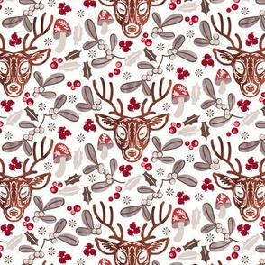 deer ditsy mistletoe