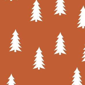 trees on bonfire orange    adventure camp