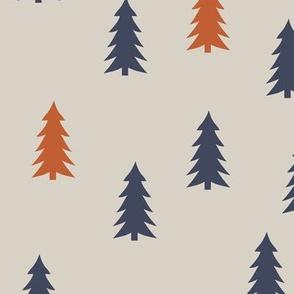trees on beige    adventure camp