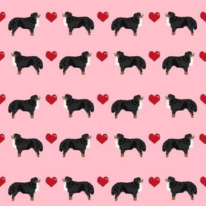 blossom pink biewer terrier love hearts cute dog fabric