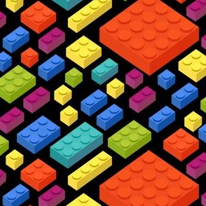 Legos 3D Pattern