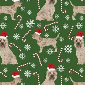 cairn terrier christmas fabric terrier dog dogs fabric cairn terriers garden green
