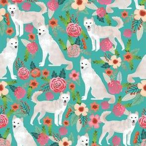 jindo floral fabric jindo dogs fabric dog design