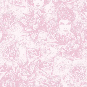 pink floral heads