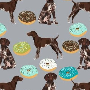 german shorthaired pointer donuts fabric cute donuts and dog design best dogs fabric