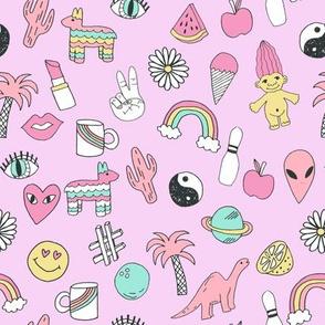 patches // 90s nostalgia pastel print fairy kei fabric design rainbows dinosaurs planets space cute girls design