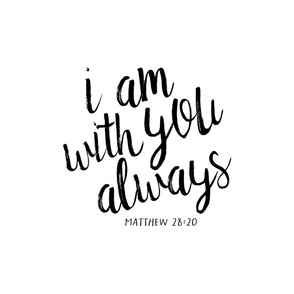 Crib Sheet Layout - I am with you always
