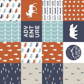 adventure camp patchwork (moose) (90) || adventure camp collection