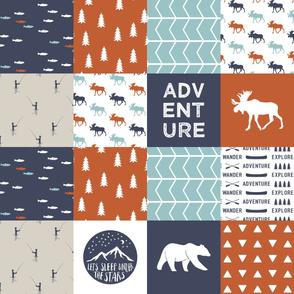 adventure camp patchwork wholecloth || adventure camp